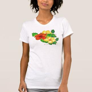 ハイビスカスの集りCami Tシャツ