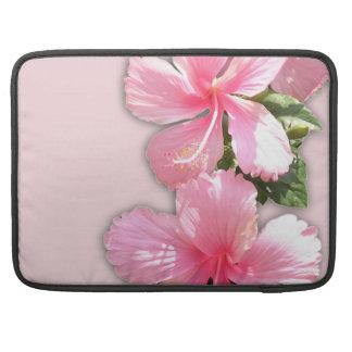 ハイビスカスのMacのピンクのハワイの袖 MacBook Proスリーブ
