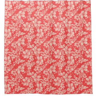 ハイビスカスのPareauの動揺してなハワイの花柄 シャワーカーテン