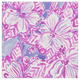 ハイビスカスFTWの紫色の熱帯花の水彩画 ファブリック