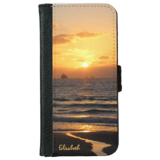 ハイファのiPhone 6のウォレットケースの美しい日没 iPhone 6/6s ウォレットケース