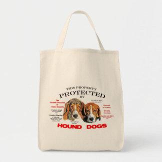 ハウンドドッグによって保護される トートバッグ