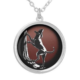 ハウンドドッグのネックレスの猟犬の芸術のジュエリーのギフト シルバープレートネックレス