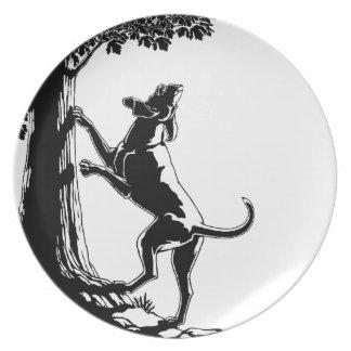 ハウンドドッグのプレートの猟犬の芸術のサービングのプレート プレート