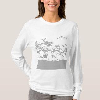 ハクガンの鳥のTシャツ Tシャツ