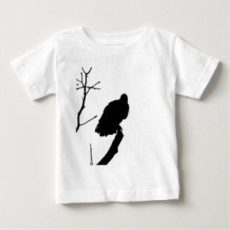 ハゲタカのシルエット愛野鳥観察の猛禽 ベビーTシャツ
