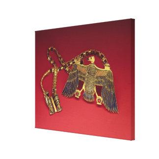 ハゲタカのペンダントが付いているネックレス キャンバスプリント