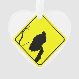 ハゲタカの警告標識愛野鳥観察の猛禽 オーナメント