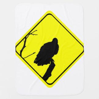 ハゲタカの警告標識愛野鳥観察の猛禽 ベビー ブランケット