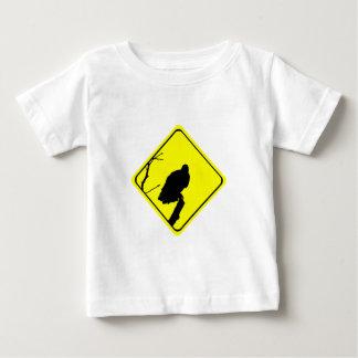 ハゲタカの警告標識愛野鳥観察の猛禽 ベビーTシャツ