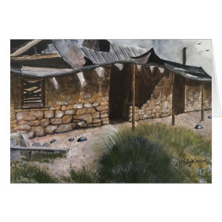 ハゲタカの金山、アリゾナの   水彩画 カード