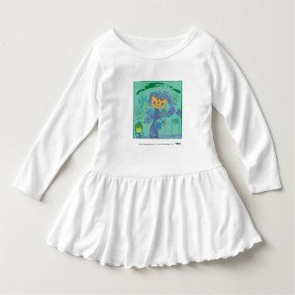 ハゲタカのKulture®の子供の芸術のベビーのひだの服 ドレス
