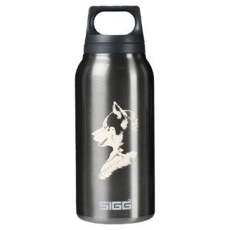 ハスキーで名前入りでハスキーな犬のボトル 断熱ウォーターボトル