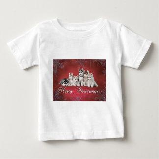 ハスキーなクリスマス ベビーTシャツ