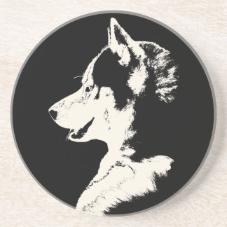 ハスキーなコースターのハスキーなマラミュートのオオカミ犬のコースター コースター