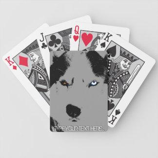 ハスキーなトランプはそり犬カードを個人化します バイスクルトランプ