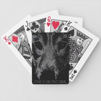 ハスキーなトランプはオオカミ犬カードを個人化します バイスクルトランプ