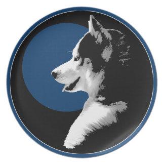 ハスキーなプレートのそり犬のカスタムでハスキーなマラミュートの装飾 プレート
