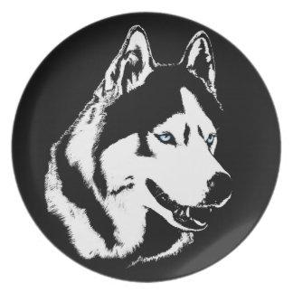 ハスキーなプレートのそり犬のギフトのハスキーなマラミュートの装飾 プレート