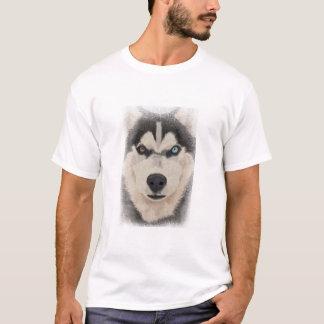 ハスキーなポートレート Tシャツ
