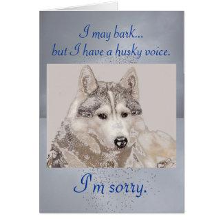 ハスキーな声の謝罪カード カード