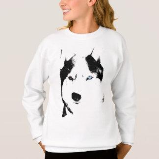 ハスキーな子供のワイシャツのそり犬の子供のハスキーなスエットシャツ スウェットシャツ