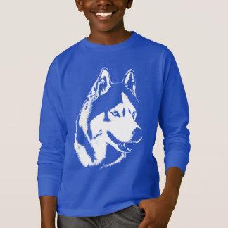 ハスキーな子供のワイシャツのそり犬の子供のハスキーなスエットシャツ Tシャツ