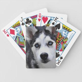 ハスキーな子犬のカジノカード バイスクルトランプ