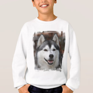 ハスキーな犬のスエットシャツ スウェットシャツ