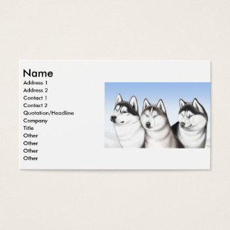 ハスキーな犬のプロフィールカード 名刺