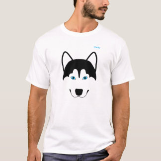 ハスキーな犬の品種イメージのTシャツ Tシャツ