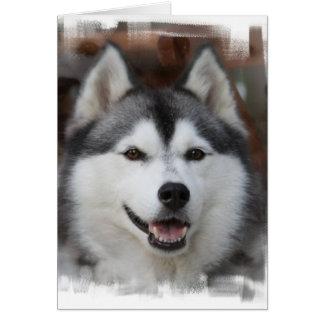 ハスキーな犬の挨拶状 カード