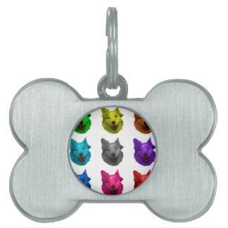 ハスキーな犬の芸術5060 Wb ペットネームタグ