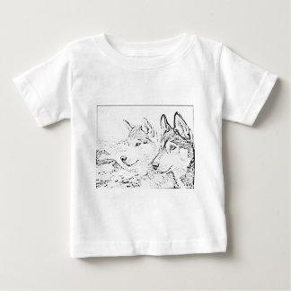 ハスキーな犬 ベビーTシャツ