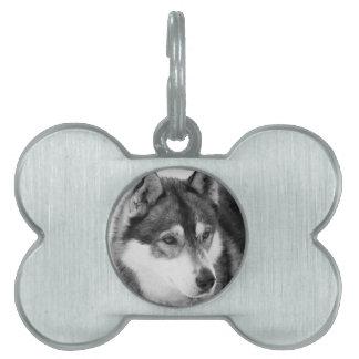 ハスキーな犬 ペットネームタグ