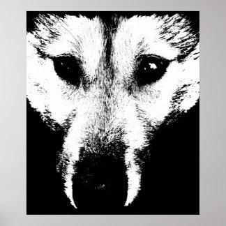 ハスキーな芸術のプリントのそり犬の芸術ポスターオオカミ子犬のギフト ポスター