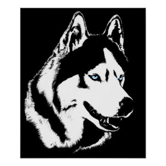 ハスキーな芸術のプリントのそり犬の芸術ポスターハスキーのギフト ポスター