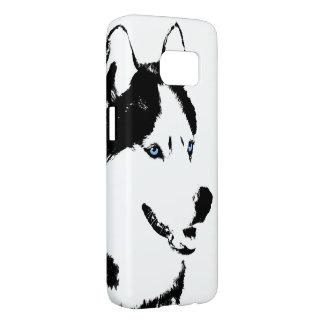 ハスキーなSamsung 7はケースがカスタマイズそり犬を包装します Samsung Galaxy S7 ケース