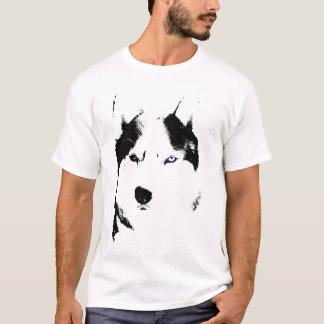 ハスキーなTシャツのオオカミのハスキーなそり犬のハスキーのワイシャツ Tシャツ