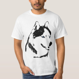 ハスキーなTシャツのオオカミのハスキーなティーのそり犬のハスキーのワイシャツ Tシャツ