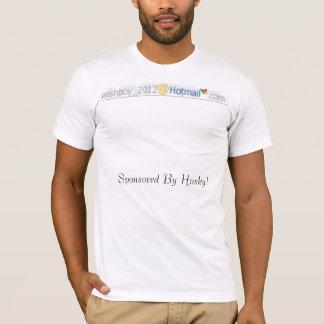 ハスキーによって後援されるhotmail1.php! tシャツ