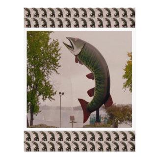 ハスキーカナダのMuskieの魚の路傍ショー レターヘッド