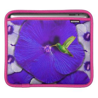 ハチドリおよびハイビスカスのiPadの袖 iPadスリーブ