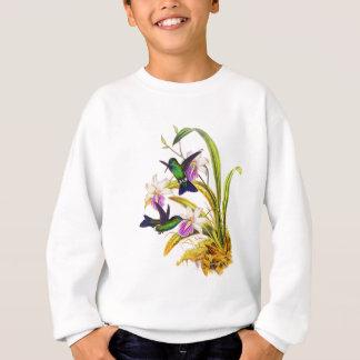 ハチドリおよび紫色の蘭 スウェットシャツ