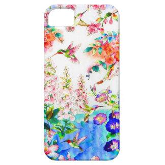 ハチドリおよび花の景色 iPhone SE/5/5s ケース
