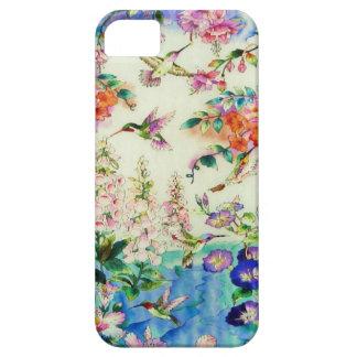 ハチドリおよび花の穹窖のiPhone 5の場合 iPhone SE/5/5s ケース