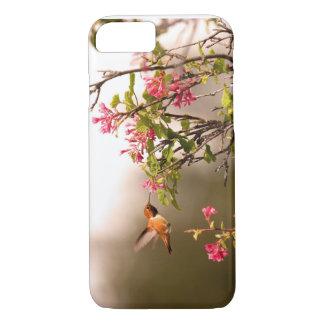 ハチドリおよび花 iPhone 7ケース