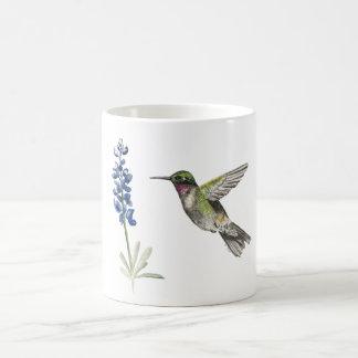 ハチドリおよびBluebonnet コーヒーマグカップ