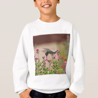 ハチドリおよびSnapdragons スウェットシャツ