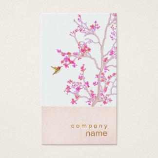 ハチドリのかわいらしいピンクは枝名刺を発芽させます 名刺
